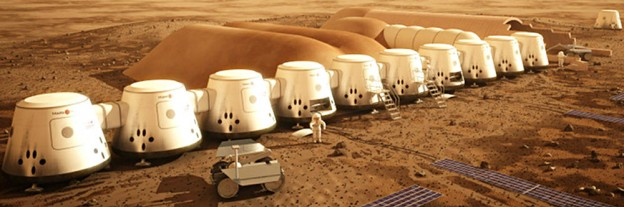 Mars One colony in 2023