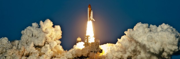 Space Shuttle Discovery on lift off